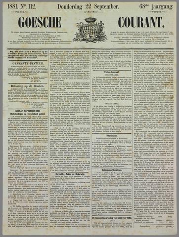 Goessche Courant 1881-09-22