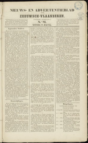 Ter Neuzensche Courant. Algemeen Nieuws- en Advertentieblad voor Zeeuwsch-Vlaanderen / Neuzensche Courant ... (idem) / (Algemeen) nieuws en advertentieblad voor Zeeuwsch-Vlaanderen 1855-07-18