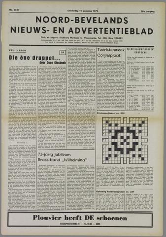 Noord-Bevelands Nieuws- en advertentieblad 1973-08-16
