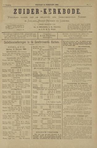 Zuider Kerkbode, Weekblad gewijd aan de belangen der gereformeerde kerken in Zeeland, Noord-Brabant en Limburg. 1892