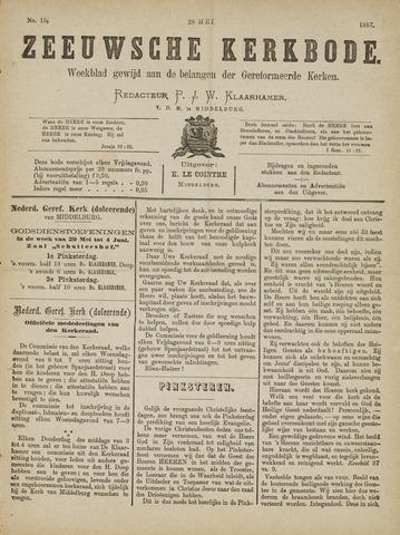 Zeeuwsche kerkbode, weekblad gewijd aan de belangen der gereformeerde kerken/ Zeeuwsch kerkblad 1887-05-28