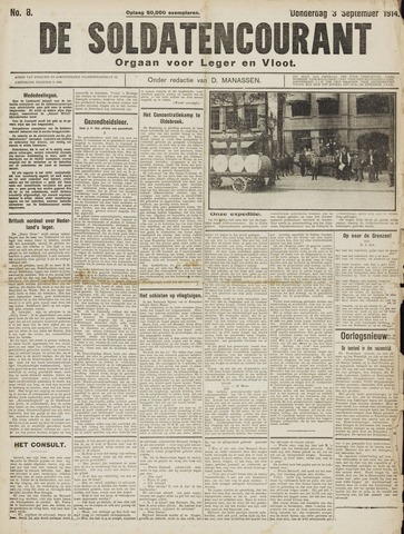 De Soldatencourant. Orgaan voor Leger en Vloot 1914-09-03
