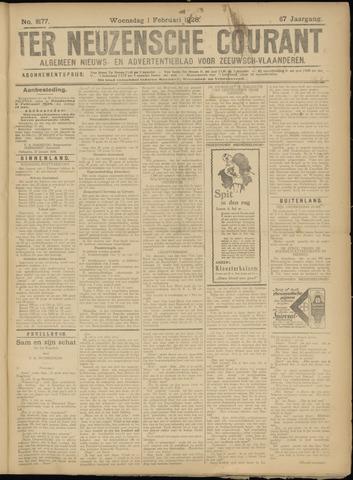 Ter Neuzensche Courant. Algemeen Nieuws- en Advertentieblad voor Zeeuwsch-Vlaanderen / Neuzensche Courant ... (idem) / (Algemeen) nieuws en advertentieblad voor Zeeuwsch-Vlaanderen 1928-02-01