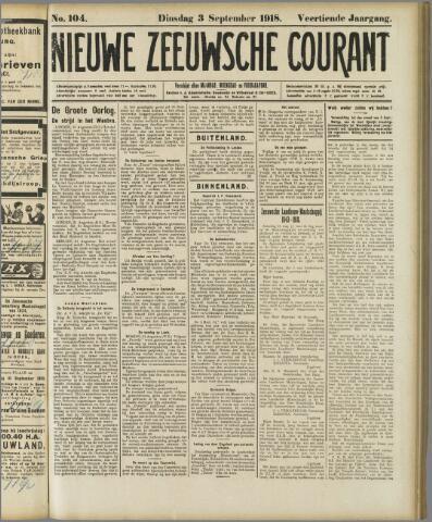 Nieuwe Zeeuwsche Courant 1918-09-03