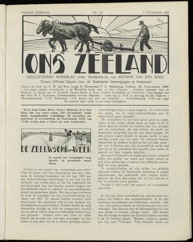 Ons Zeeland / Zeeuwsche editie 1927-11-05