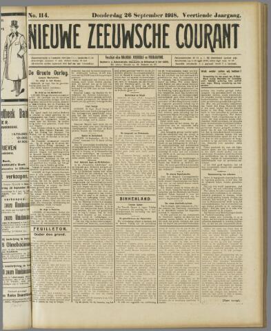 Nieuwe Zeeuwsche Courant 1918-09-26