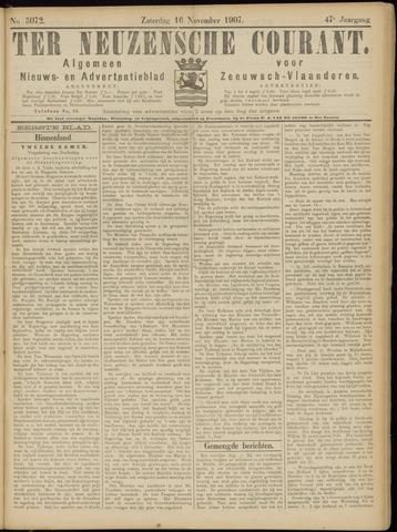 Ter Neuzensche Courant. Algemeen Nieuws- en Advertentieblad voor Zeeuwsch-Vlaanderen / Neuzensche Courant ... (idem) / (Algemeen) nieuws en advertentieblad voor Zeeuwsch-Vlaanderen 1907-11-16