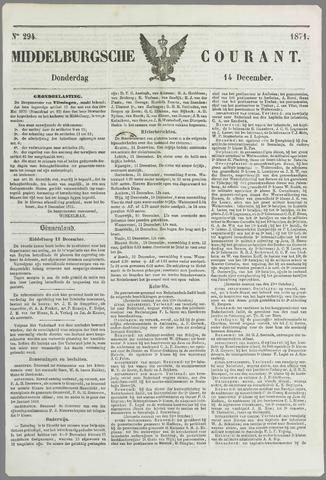 Middelburgsche Courant 1871-12-14