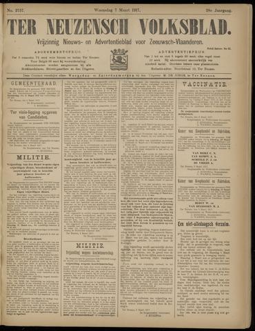 Ter Neuzensch Volksblad. Vrijzinnig nieuws- en advertentieblad voor Zeeuwsch- Vlaanderen / Zeeuwsch Nieuwsblad. Nieuws- en advertentieblad voor Zeeland 1917-03-07