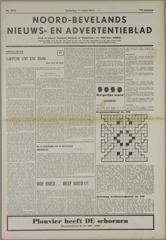 Noord-Bevelands Nieuws- en advertentieblad 1971-03-11