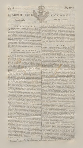 Middelburgsche Courant 1762-01-14