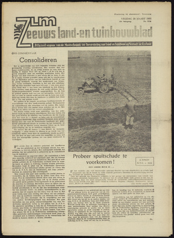 Zeeuwsch landbouwblad ... ZLM land- en tuinbouwblad 1965-03-26