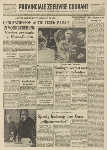 Provinciale Zeeuwse Courant 1962-05-23