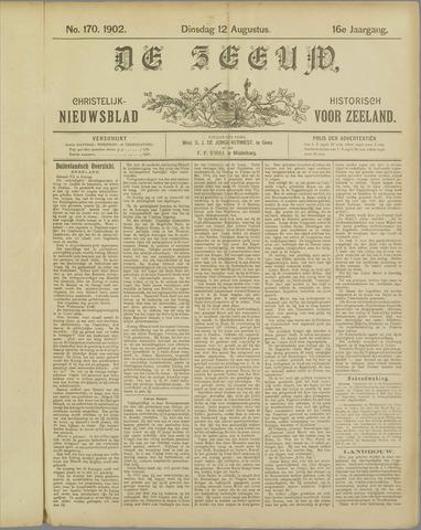 De Zeeuw. Christelijk-historisch nieuwsblad voor Zeeland 1902-08-12