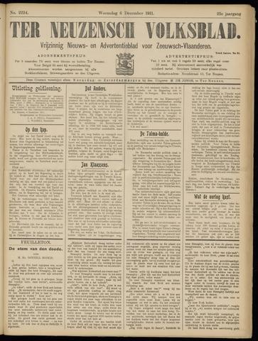 Ter Neuzensch Volksblad. Vrijzinnig nieuws- en advertentieblad voor Zeeuwsch- Vlaanderen / Zeeuwsch Nieuwsblad. Nieuws- en advertentieblad voor Zeeland 1911-12-06