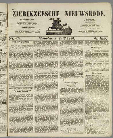 Zierikzeesche Nieuwsbode 1850-07-08