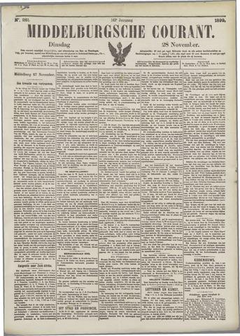 Middelburgsche Courant 1899-11-28