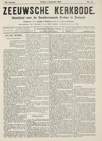 Zeeuwsche kerkbode, weekblad gewijd aan de belangen der gereformeerde kerken/ Zeeuwsch kerkblad 1924-09-05