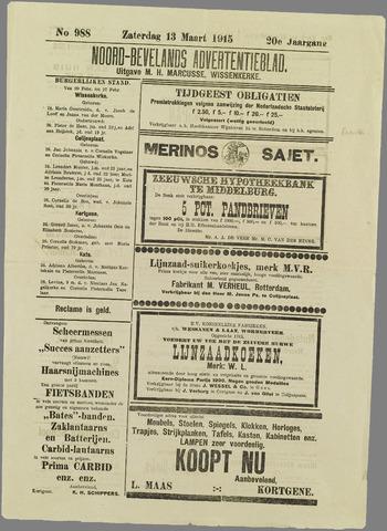 Noord-Bevelands Nieuws- en advertentieblad 1915