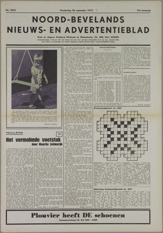 Noord-Bevelands Nieuws- en advertentieblad 1972-09-28