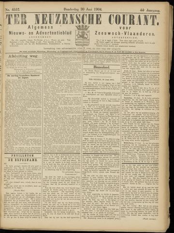 Ter Neuzensche Courant. Algemeen Nieuws- en Advertentieblad voor Zeeuwsch-Vlaanderen / Neuzensche Courant ... (idem) / (Algemeen) nieuws en advertentieblad voor Zeeuwsch-Vlaanderen 1904-06-30