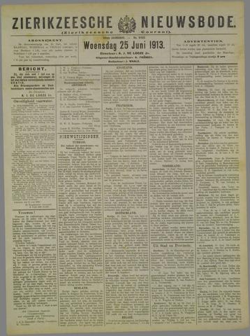 Zierikzeesche Nieuwsbode 1913-06-25