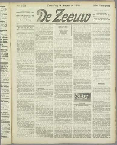 De Zeeuw. Christelijk-historisch nieuwsblad voor Zeeland 1924-08-09