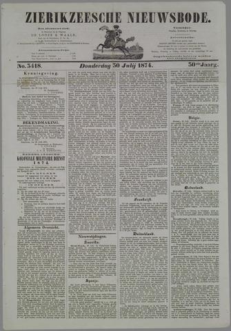 Zierikzeesche Nieuwsbode 1874-07-30