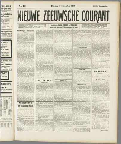 Nieuwe Zeeuwsche Courant 1909-11-02