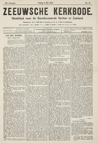Zeeuwsche kerkbode, weekblad gewijd aan de belangen der gereformeerde kerken/ Zeeuwsch kerkblad 1925-05-08