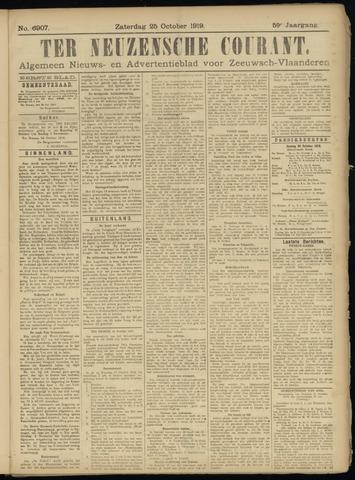 Ter Neuzensche Courant. Algemeen Nieuws- en Advertentieblad voor Zeeuwsch-Vlaanderen / Neuzensche Courant ... (idem) / (Algemeen) nieuws en advertentieblad voor Zeeuwsch-Vlaanderen 1919-10-25