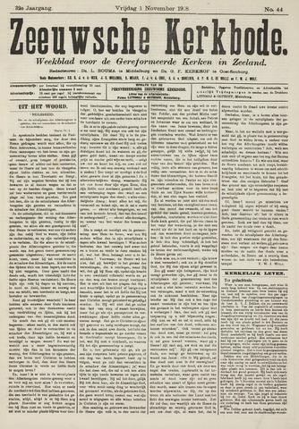 Zeeuwsche kerkbode, weekblad gewijd aan de belangen der gereformeerde kerken/ Zeeuwsch kerkblad 1918-11-01