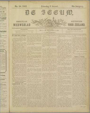 De Zeeuw. Christelijk-historisch nieuwsblad voor Zeeland 1902-01-04