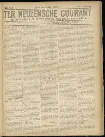 Ter Neuzensche Courant. Algemeen Nieuws- en Advertentieblad voor Zeeuwsch-Vlaanderen / Neuzensche Courant ... (idem) / (Algemeen) nieuws en advertentieblad voor Zeeuwsch-Vlaanderen 1928-03-05