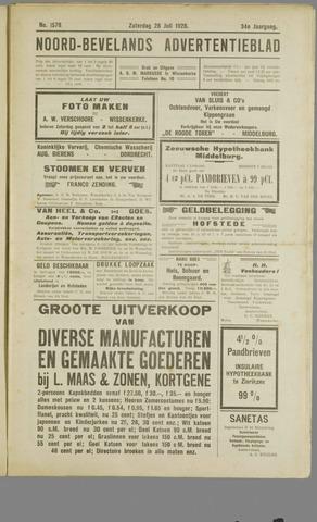 Noord-Bevelands Nieuws- en advertentieblad 1928-07-28