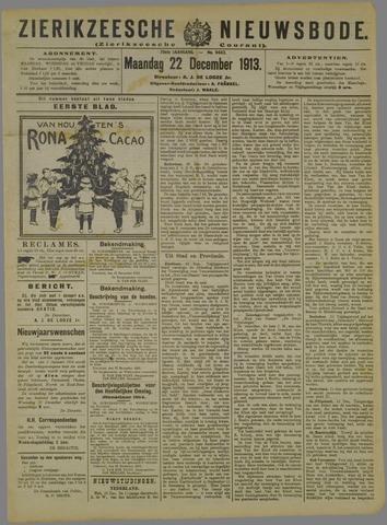 Zierikzeesche Nieuwsbode 1913-12-22