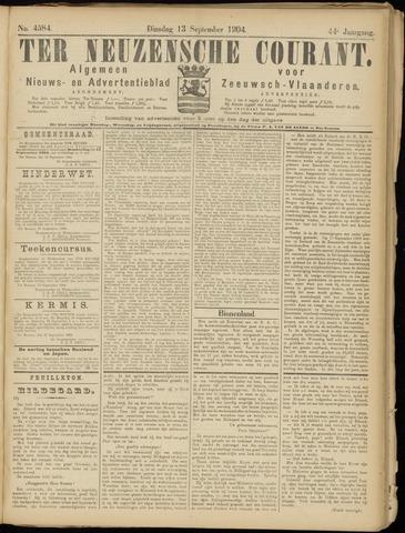 Ter Neuzensche Courant. Algemeen Nieuws- en Advertentieblad voor Zeeuwsch-Vlaanderen / Neuzensche Courant ... (idem) / (Algemeen) nieuws en advertentieblad voor Zeeuwsch-Vlaanderen 1904-09-13