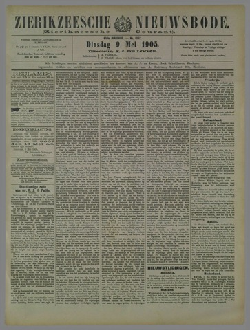 Zierikzeesche Nieuwsbode 1905-05-09