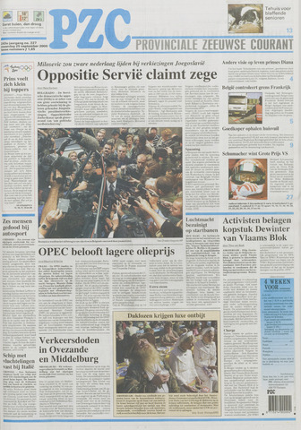 Provinciale Zeeuwse Courant 2000-09-25