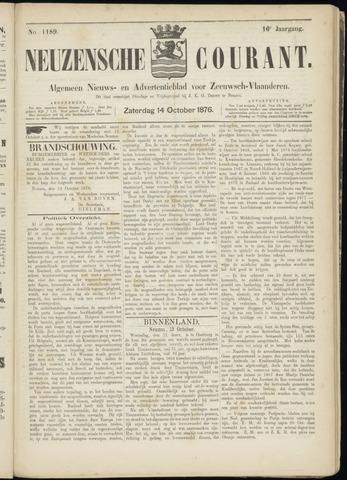 Ter Neuzensche Courant. Algemeen Nieuws- en Advertentieblad voor Zeeuwsch-Vlaanderen / Neuzensche Courant ... (idem) / (Algemeen) nieuws en advertentieblad voor Zeeuwsch-Vlaanderen 1876-10-14