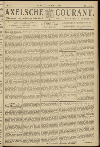 Axelsche Courant 1926-05-18