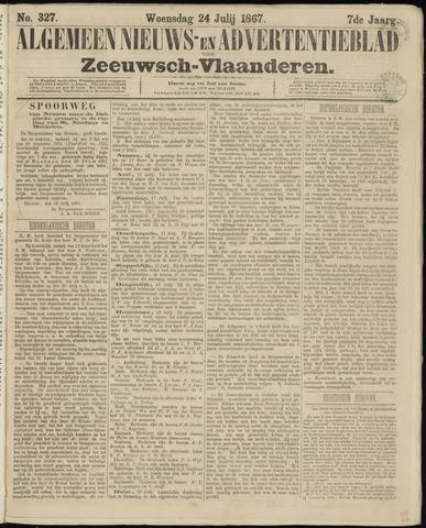 Ter Neuzensche Courant. Algemeen Nieuws- en Advertentieblad voor Zeeuwsch-Vlaanderen / Neuzensche Courant ... (idem) / (Algemeen) nieuws en advertentieblad voor Zeeuwsch-Vlaanderen 1867-07-24