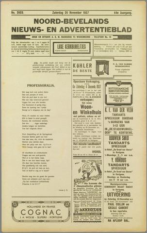 Noord-Bevelands Nieuws- en advertentieblad 1937-11-20