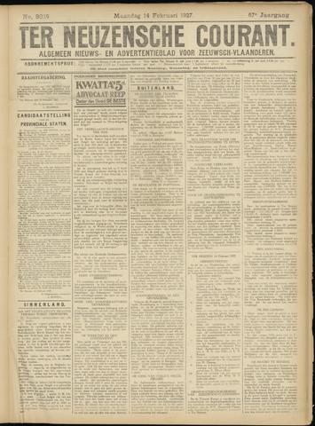 Ter Neuzensche Courant. Algemeen Nieuws- en Advertentieblad voor Zeeuwsch-Vlaanderen / Neuzensche Courant ... (idem) / (Algemeen) nieuws en advertentieblad voor Zeeuwsch-Vlaanderen 1927-02-14