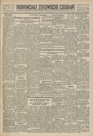 Provinciale Zeeuwse Courant 1946-10-22