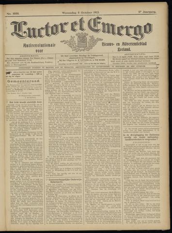Luctor et Emergo. Antirevolutionair nieuws- en advertentieblad voor Zeeland / Zeeuwsch-Vlaanderen. Orgaan ter verspreiding van de christelijke beginselen in Zeeuwsch-Vlaanderen 1913-10-08