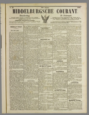 Middelburgsche Courant 1906-02-15
