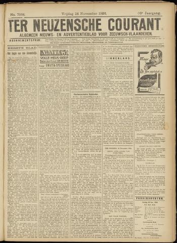 Ter Neuzensche Courant. Algemeen Nieuws- en Advertentieblad voor Zeeuwsch-Vlaanderen / Neuzensche Courant ... (idem) / (Algemeen) nieuws en advertentieblad voor Zeeuwsch-Vlaanderen 1926-11-26