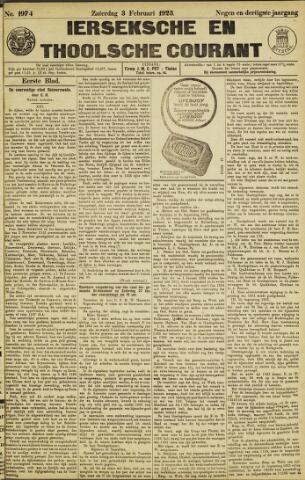 Ierseksche en Thoolsche Courant 1923-02-03