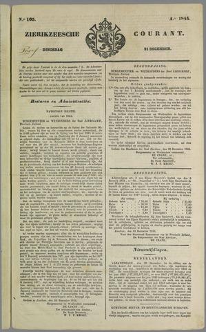 Zierikzeesche Courant 1844-12-31